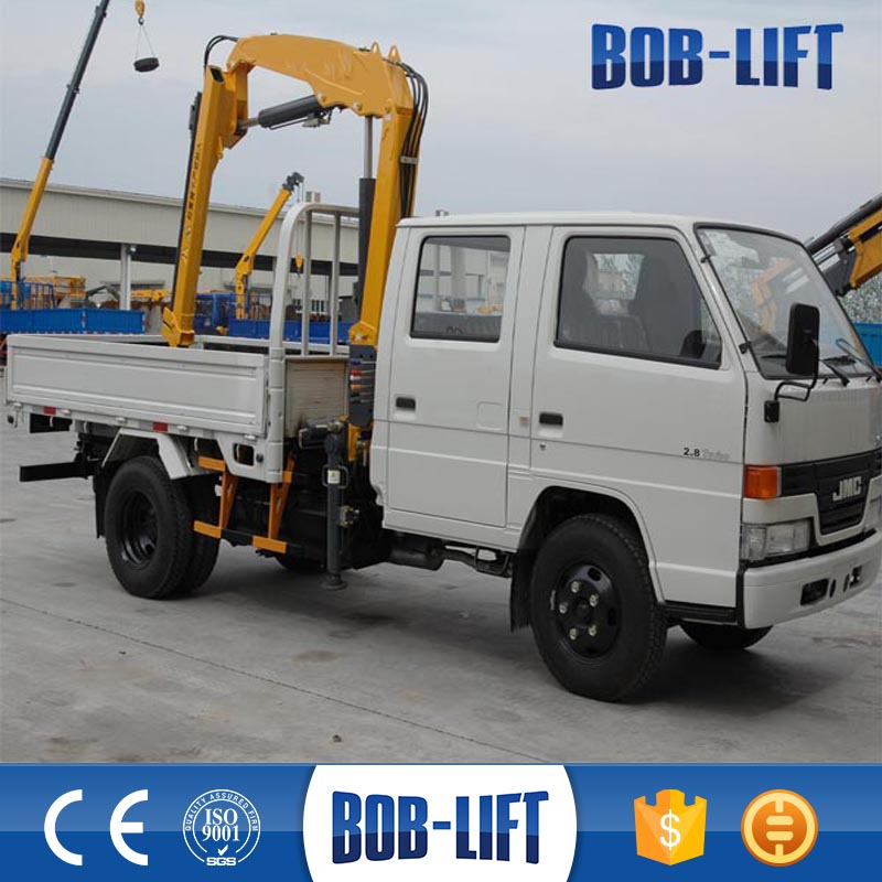 hydraulic folding portable lift hand operated small crane for trucks