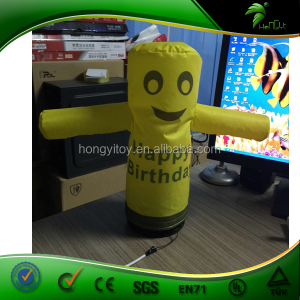 2016 New Small Inflatable Air Dancer For Advertising / Custom Inflatable Mini Desktop Air Dancer / Desktop Inflatable Tube Man