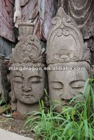 Chinese antique wooden carved buddha head