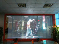 High Brightness Curved Video Screen , Flexible Transparent LED Display IP65 / IP54