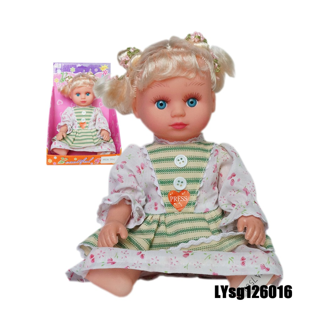 12 inch novel baby dolls old fashion with blink eyes