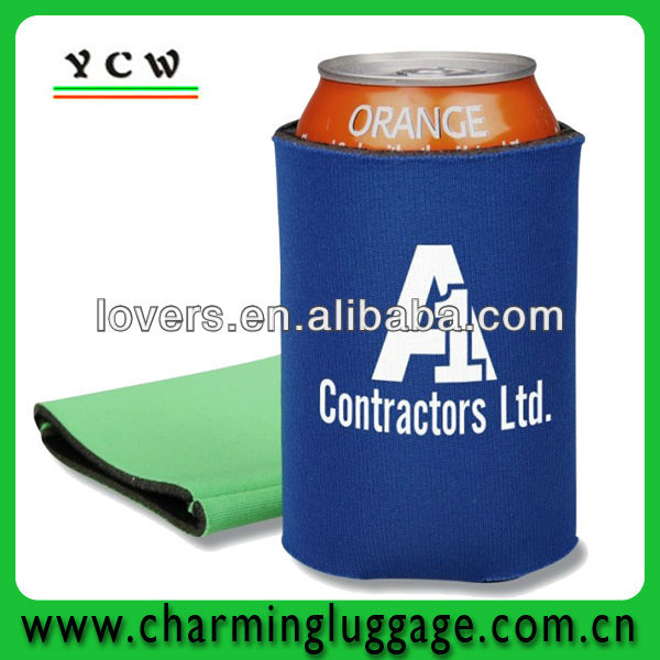 round insulated neoprene can holder cooler