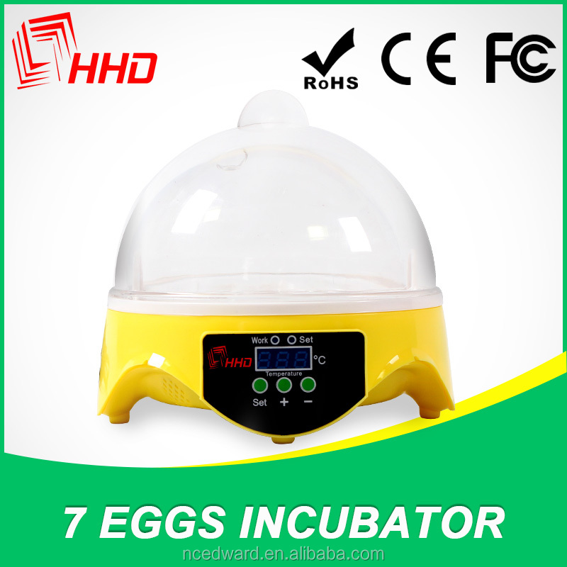 The best gift for children education 7 eggs toy incubator CE Approved energy conservation and environment protection for sale