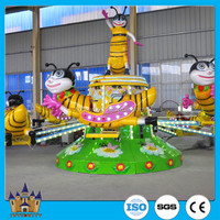 Outdoor amusement park toys for children amusement rides used rotating bee self control plane