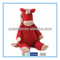 2014 chinese new year mascot plush red toy horse