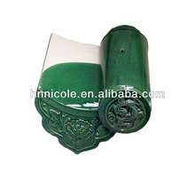 Flower pattern green antique roofing shingles