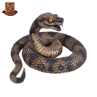 Good quality terrible resin custom snake cheap animal figurines