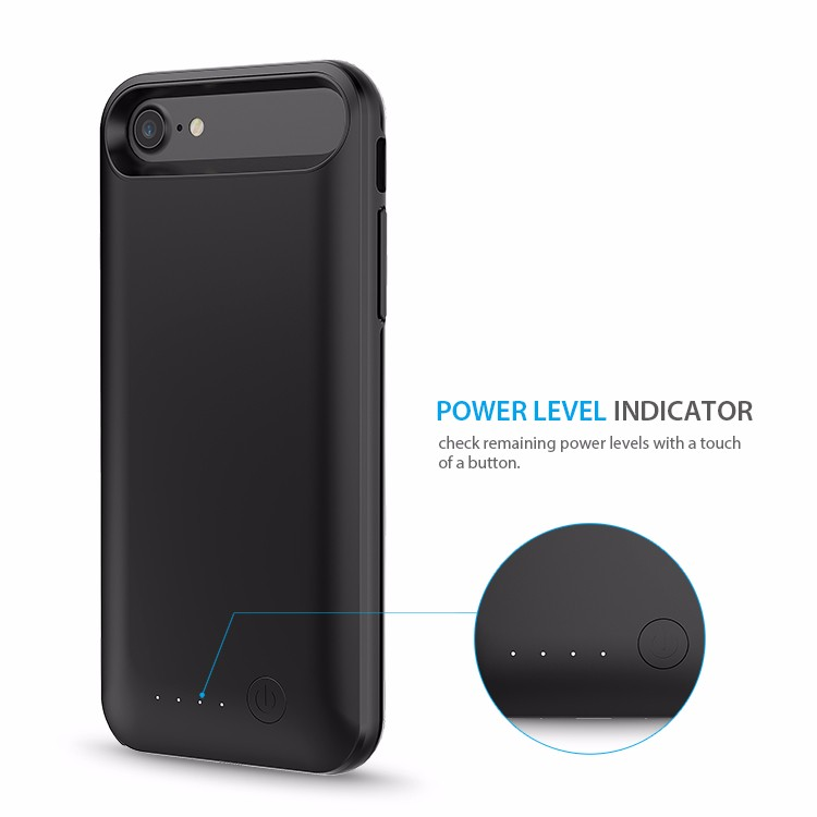 MFI Battery Case for iPhone 7 with 3200mah capacity TPU safty design, for iphone7 external battery case