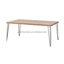 ash wood table top hairpin table legs wedding furniture