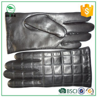 100% Sheep Skin Touch Screen Men Gloves Classic Style Pure Genuine Leather Gloves For Winter Men's Smart Phone Gloves