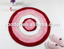 Fashion printed polyester round mats rugs