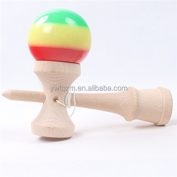 Promotion cheap kids toy 3 colors wholesale kendama