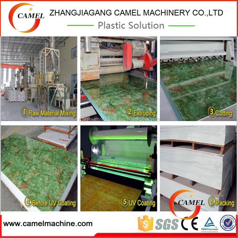 vente chaude chinois usine pour pvc imitation marbre feuille ligne de production ligne d. Black Bedroom Furniture Sets. Home Design Ideas
