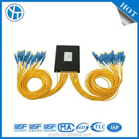 PON FTTH fiber optical PLC splitter and coupler with ABS box