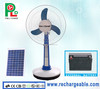 New Rechargeable Fan Portable Fan Solar Stand Fan with Bright LED Light and Solar Panel Made in China PLD-33T