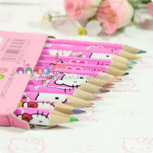 cute color pencil for children , hello kitty pencil set for drawing