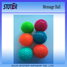 Non-toxic PVC spiky massage ball for body therapy