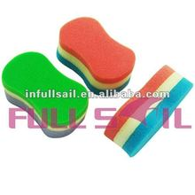 Triple Colorful Baby Bath Massage Sponges