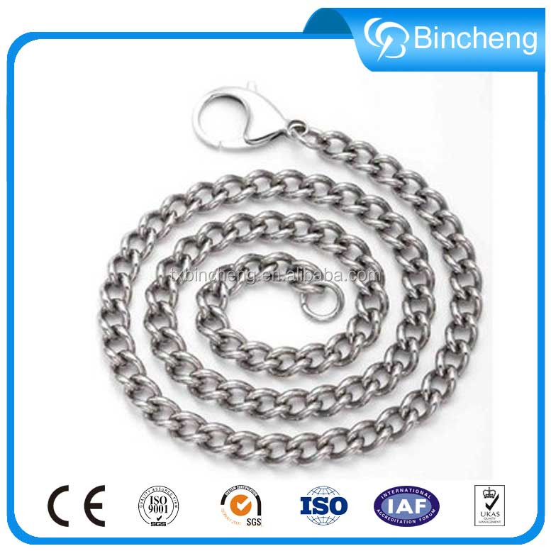 1.5mm stainless steel twist link dog chains