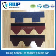 High quality Colorful asphalt shingles Waterproof materials made in China factory