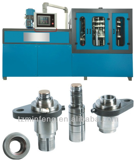Plastic bottle rotational cap molding machine+mold