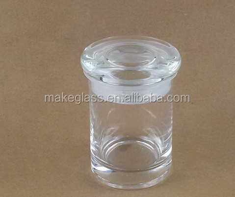 3oz medical use glass jar mini glass storage jar with glass lid