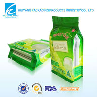 Hot sale sultanas packaging stand up side gusset plastic zip lock bag