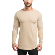 2016 Wholesale colorful blank plain t shirt dry fit t shirt for sports,men's long sleeves gym t shirt