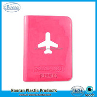 Peel PVC Passport Holder, High Quality Plastic Passport Cover for Promotion