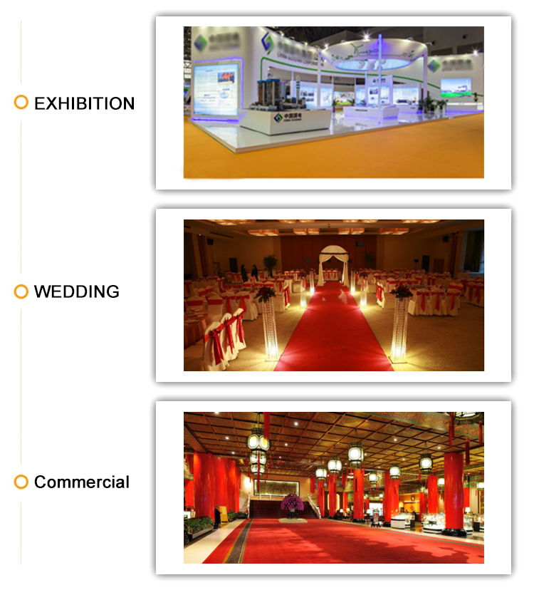 Wedding red carpet supplier pvc polyester carpet printed tufted carpet