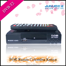 Global popular dvb- t2 tv terrestrial set top box DVB-T2 digital time shift media player MPEG4 AVCH.264