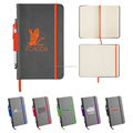 Daily diary 2018, customized leather paper notebook,A5 embossed logo and pu leather notebook