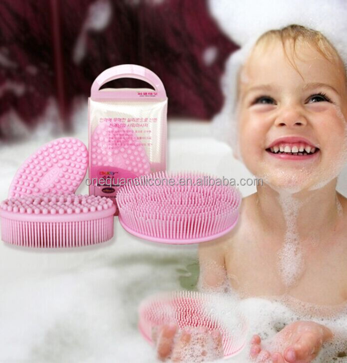 2016 Best silicon body bath massage brush