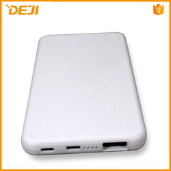 consumer electronics li-polymer slim power bank 5000mah for iphone 6