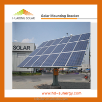 Single pile dual axis solar sun tracker 10KW