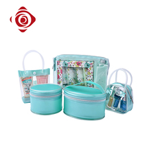 Fashion pvc green travel toiletry kit makeup sublimation cosmetic bag