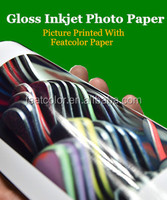China supplier high quality A3 silk glossy photo paper