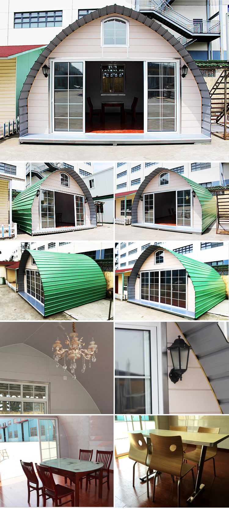 house main iron square tube gate designs/hobbit house/dome kit