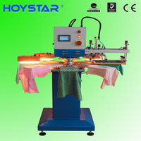 2 color 8 station automatic screen printing machinery for t-shirts