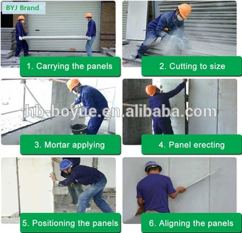 waterproof soundproof insulation 50mm lightweight eps roof sandwich panel