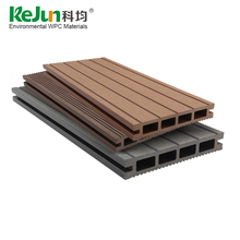 Hollow Decking Floor Board Wood Plastic Composite Panel Exterior Anti-UV Outdoor WPC Floorings