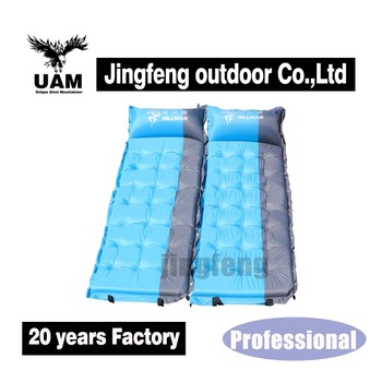 single person polyster high density memory self inflatable camping mattress