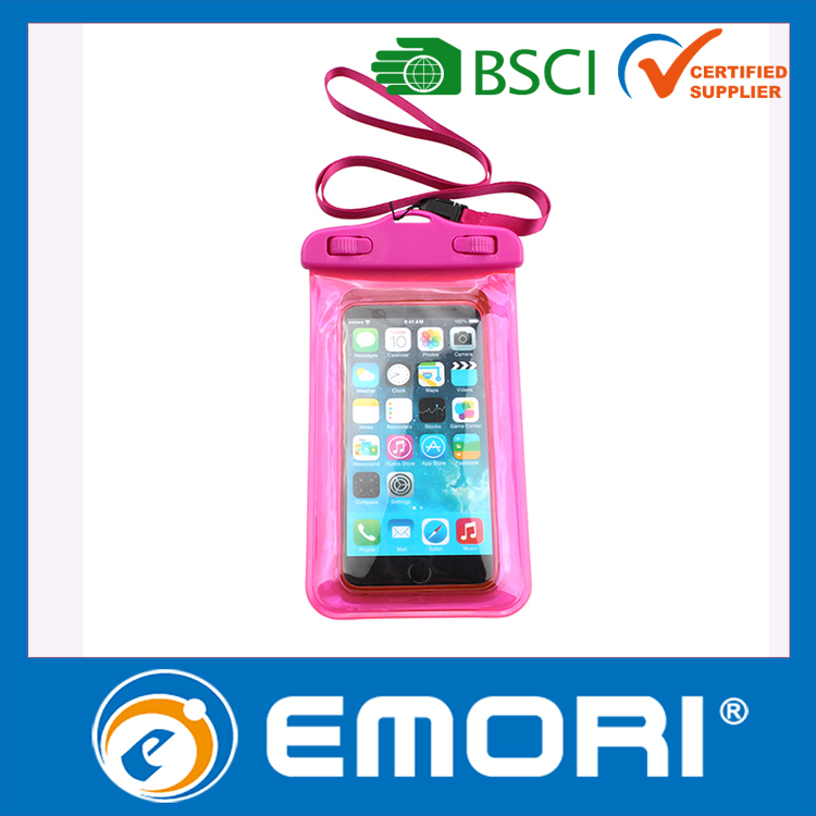 custom universal waterproof cell phone pouch for sport