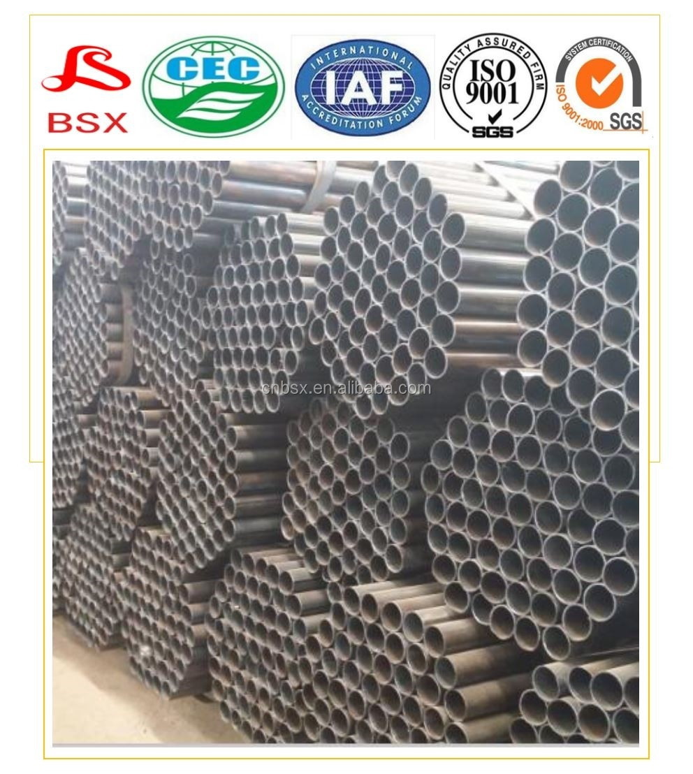 ERW thin wall steel pipe steel tubing dimension 30*30 with top quality
