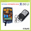 RF 433Mhz Two Buttons Wireless Electric Garage Gate Door Remote Controller YET402pc-V2.0