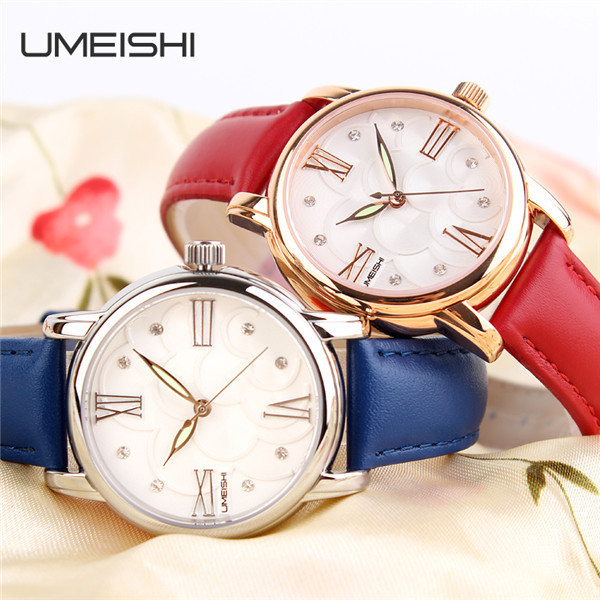 fashion watch women genuine leather 316l stainless steel case
