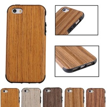 Fancy Wood Style Phone Case , Slim Protective Case For iPhone SE