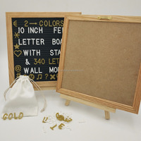 Changeable Oak wood Felt letter board with 340 letters and emoji