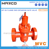 Professional supply wellhead api 6a standard 410 4130 material expanding k-shape wkm gate valve