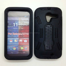 For Motorola Xphone Black Hard Silicone Cover Skin Case